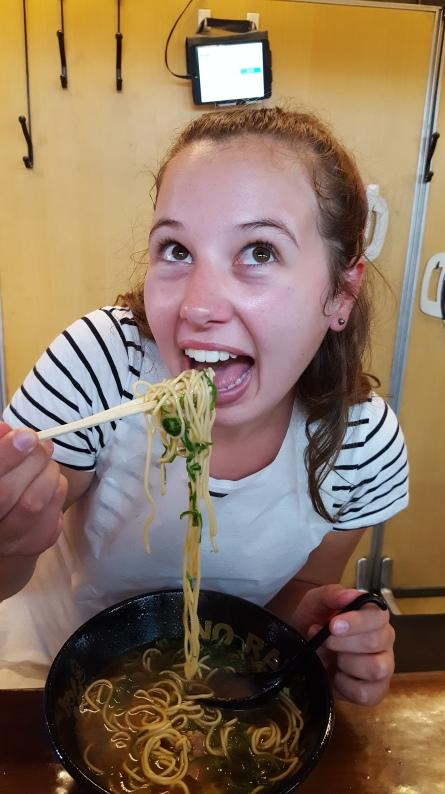 Eating-ramen-kyoto