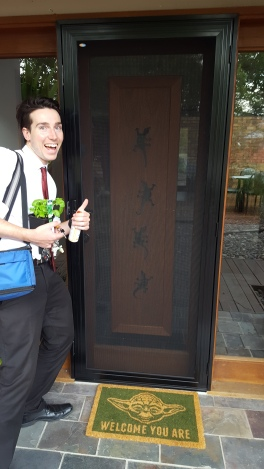 We got a new door... and a new plant!