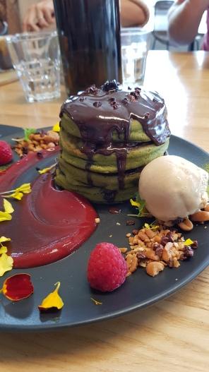 Matcha mylkbar pancake stack