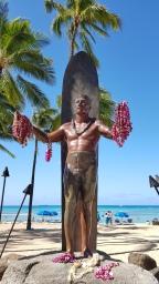 Duke Paoa Kahanamoku Statue at Waikiki Beach