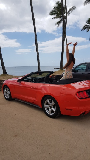 Mustang hire car Hawaii