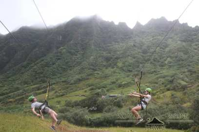 Ziplining at Kualoa Ranch