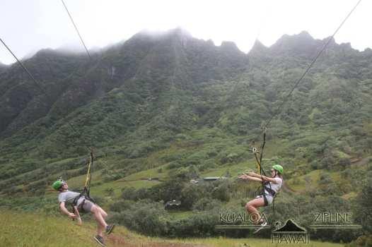 Ziplining at Kualoa Ranch